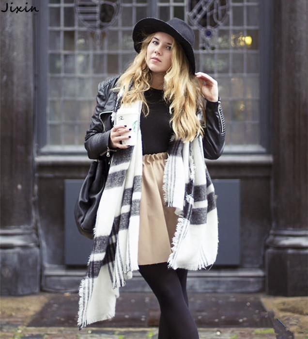 New Arrival Winter Warm Scarves Imitation Cashmere Black & White Plaid Scarf Shawl Bufandas For Women 200 * 92cm(China (Mainland))