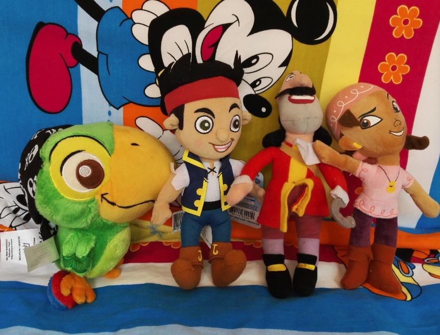 free shipping 4PCS/lot Jake and the Never Land Pirates plush stuffed toys children action figure plush dolls birthday gift24(China (Mainland))