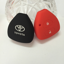 silicone key cover for TOYOTA Corolla Hilux Vitz Rav4 Aqua Camry Highlander Land Cruiser Pardo Prius car key case 2 3 4 buttons