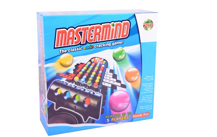 Free shipping Mastermind the classic code cracking game Predictable Beads Table Games Cracked Passwords Educational Toys(China (Mainland))