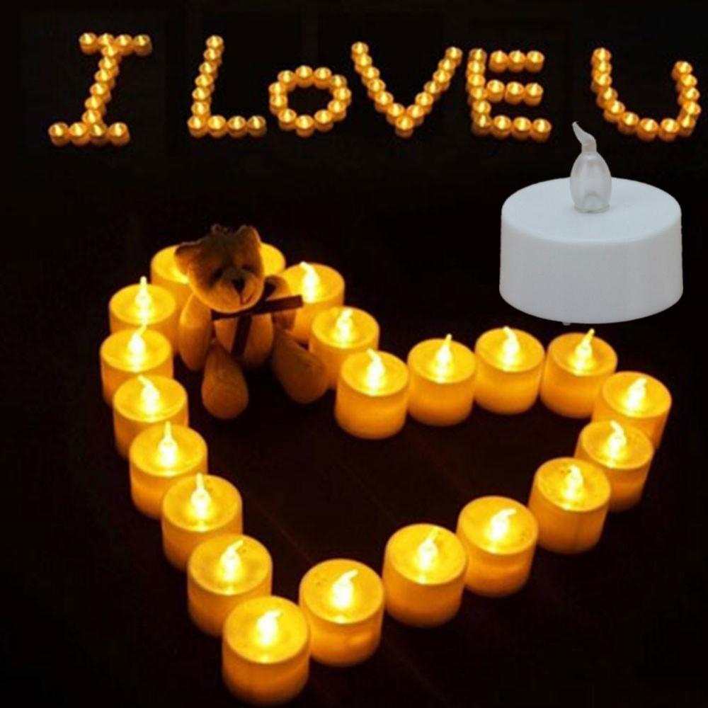 LED Tea Candle Battery Font
