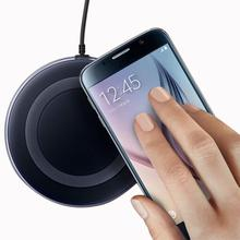 For Samsung Galaxy S6/S6 Edge Wireless Charging Pad Qi Morden Charger 2A Black