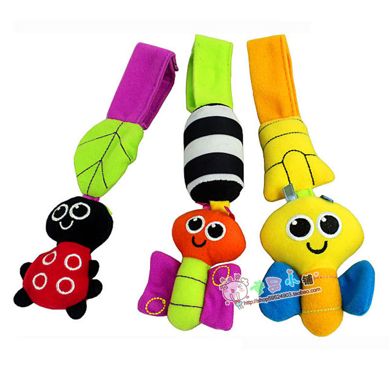 Sassy response paper ladyfly bee rattles, butterfly wind chimes lathe hang 0-1 year old baby toys mobile - Bifrost Baby Products Co., Ltd. store