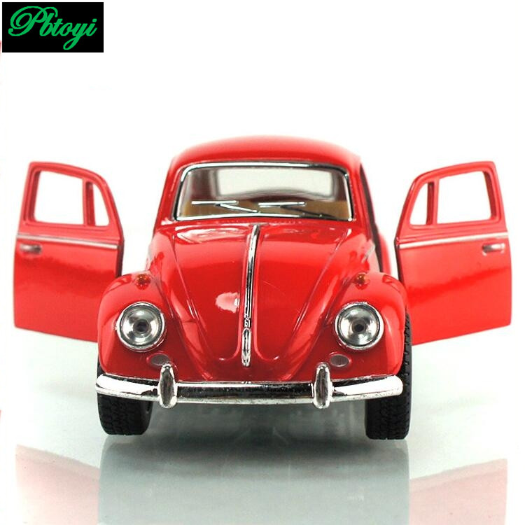 Free Shipping Free Shipping Vintage Classic Cars Police Model Car Alloy Baby Educational Scale Models Beetle Car Toys F1022(China (Mainland))