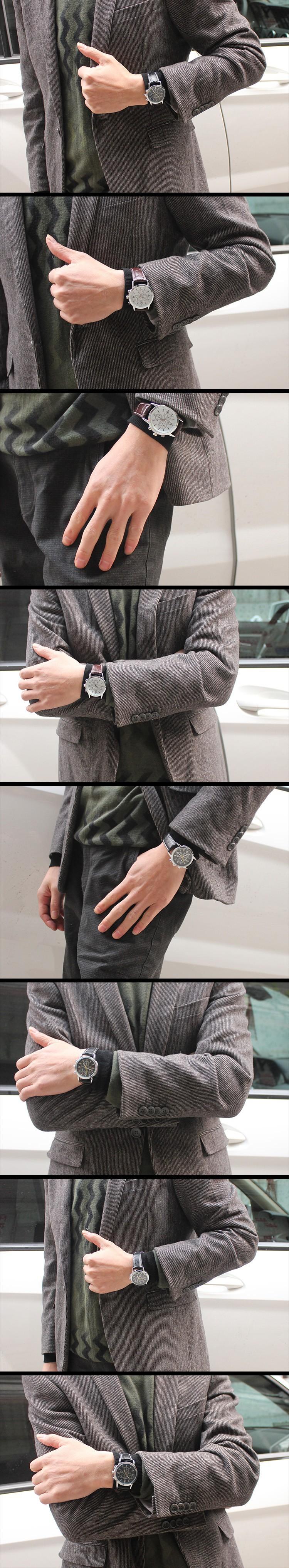 Смотреть новые пара Часы мужчина и женщина кожа группа часы лучший Цена кварцевые часы любовника 6033