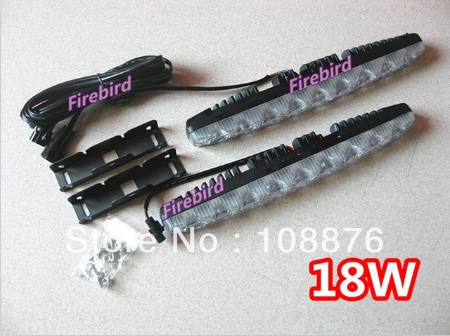 18W high power 9led*2  (DRL) daytime running lights, super white fog lamps, driving lights, E4 waterproof
