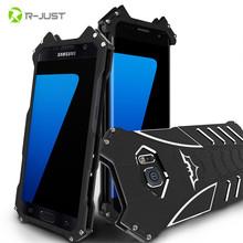 R-JUST БЭТМЕН Серии Luxury Doom Heavy Duty Броня Металла Алюминиевая Мобильная телефон Случае Для Samsung Galaxy S6 S7 edge plus note 5 мешок(China (Mainland))
