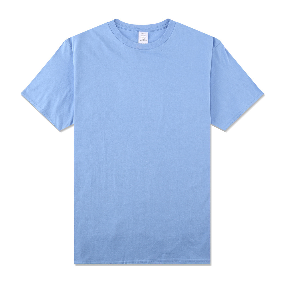 Inf men men 39 s cotton short sleeved t shirt solid color for Mens colored t shirts