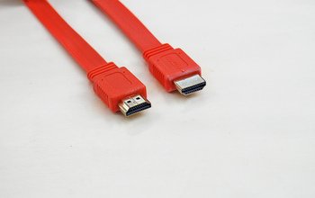 50pcs/lot high speed 50ft HDMI Cable FLAT CL2 Rated (In-Wall Installation) Gold Plated (orange) free shipping