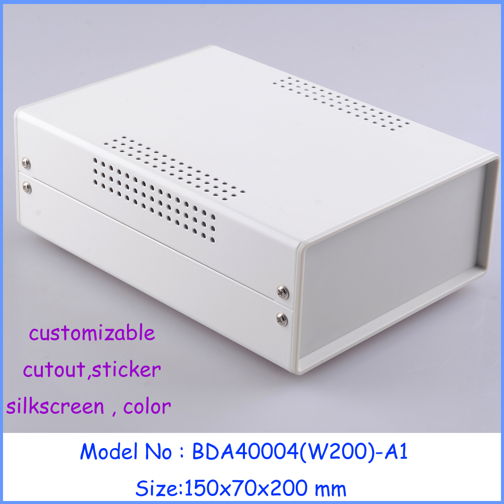 (1 pc) Standard Iron box for device enclosure 150*70*200mm Steel electronics enclosure box for diy pcb(China (Mainland))