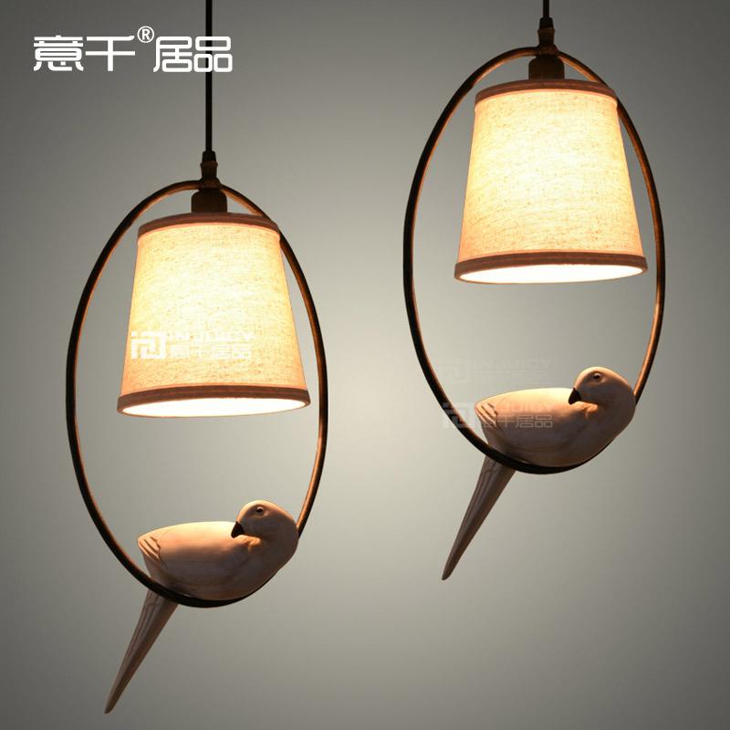 Фотография American Loft Bird Ceiling Light Cafe Bar Dinning Room Aisle Lamp Countryside