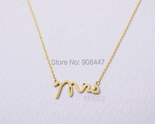 30 Piece Wholesale New Arrival Fashion Brass Mrs Wedding Gift Pendant Necklace Letter Necklaces N119(China (Mainland))