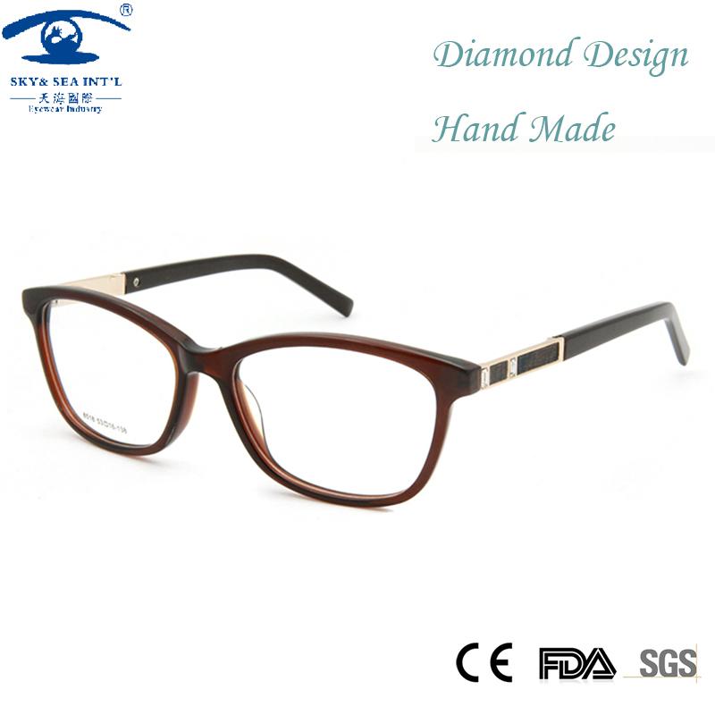 Eyeglass Frames With Diamonds : Luxury Diamond Eyeglass Frames High Quality Glasses Women ...
