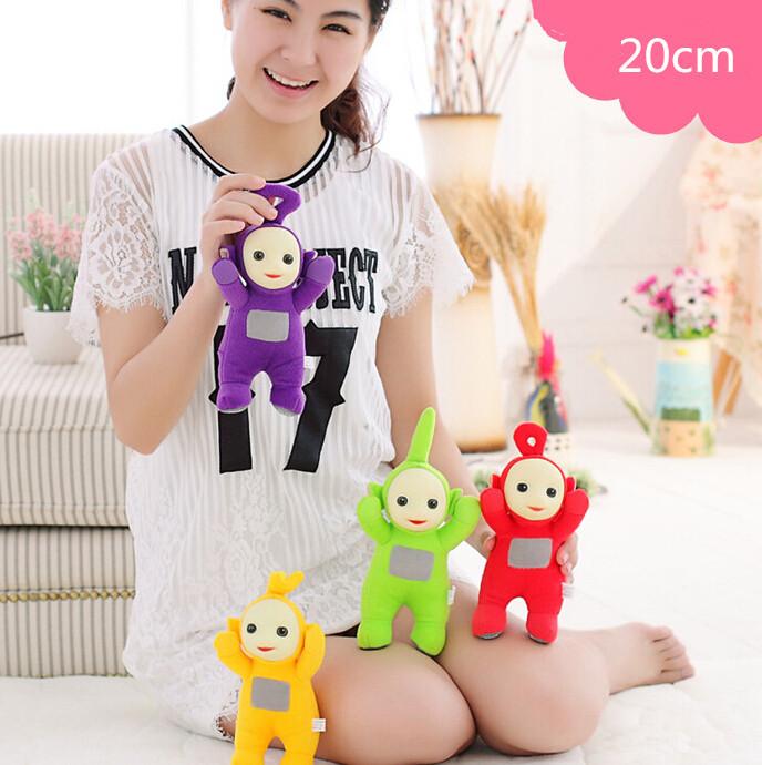 "1pcs 8"" 20cm Authentic Teletubbies Plush Doll Toy Cute Cartoon Teletubbies Stuffed Doll 100% Original Promotion(China (Mainland))"