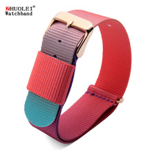 arrive 18mm 20mm nylon watchband colorful canvas Bracelet women fashion dw watches straps - China's Zhuolei store