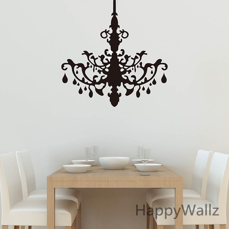 Hanging Lamp Wall Sticker: 3d Droplight Wall Sticker Pendant Lamp Wall Decal Living