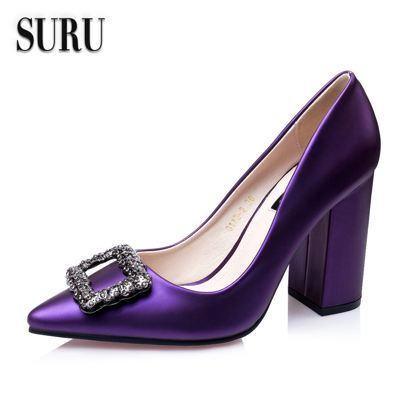 Purple Block Heel Shoes Boots And Heels 2017