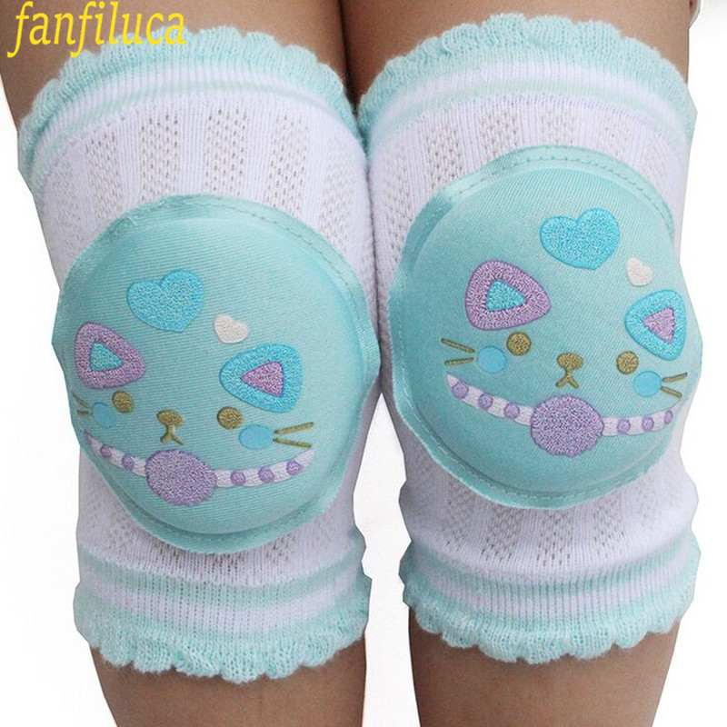 High Quality Cartoon Baby Leg Warmers Toddler Safety Kids Knee Pads Caton Short Kneepad Crawling Protective Leggings Breathable(China (Mainland))