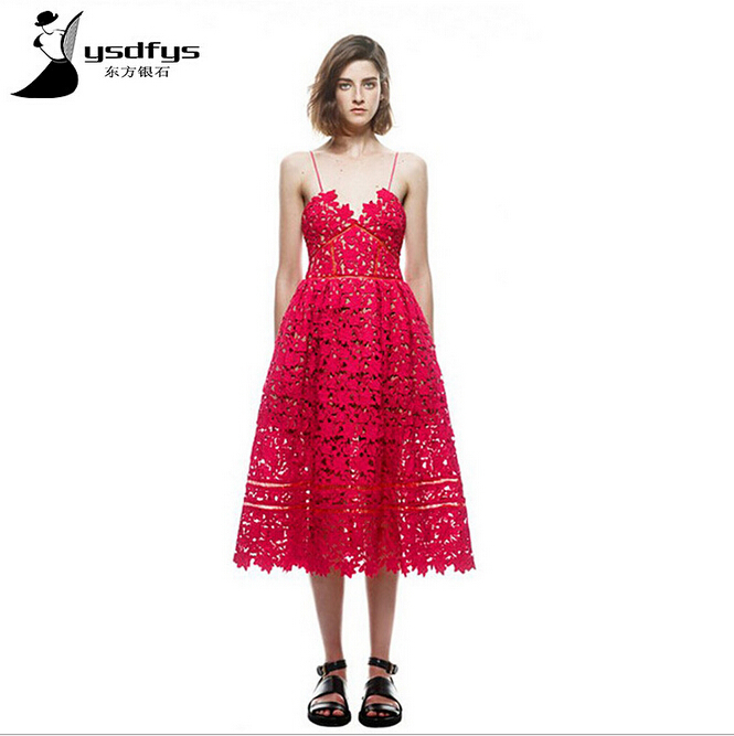 Super Star love women red / white lace embroidery Spaghetti strap Dress strapless slim princess party formal dresses(China (Mainland))
