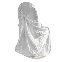 5 pcs/lot Universal Self Tie Chair Cover Wedding Event Holiday White 110x140cm(China (Mainland))