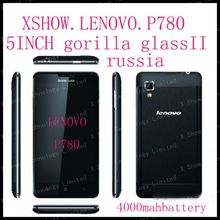 Lenovo P780 gorilla glass  phone MTK6589 quad core 1.2G 4000mAh 1G/4G 1280X720 Camera 8.0M Smart phone Android4.2  58 language(China (Mainland))