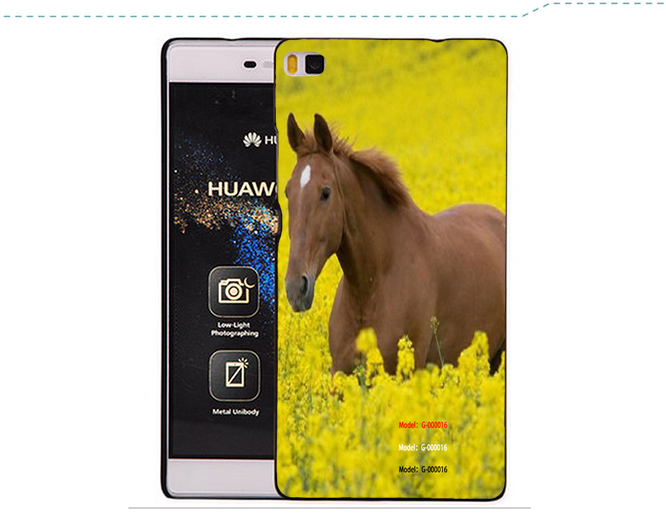 Free Shipping 2015 new we are all mad here telephone box elephant flower view window PU leather case For Huawei Ascend P8(China (Mainland))