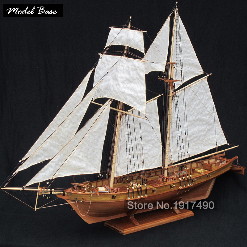Wooden Ship Models Kits Educational Toy Model-Ship-Assembly Model-Wood-Boats 3d Laser Cut Scale 1/50 HARVEY 1847 (2011 Edition)(China (Mainland))