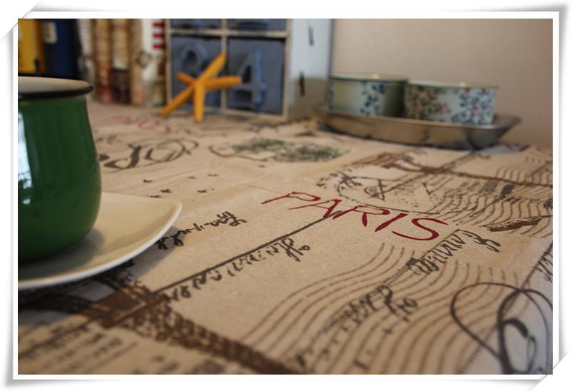 Paris effiel tower printed tablecloth europe vintage table - Manteles para navidad ...