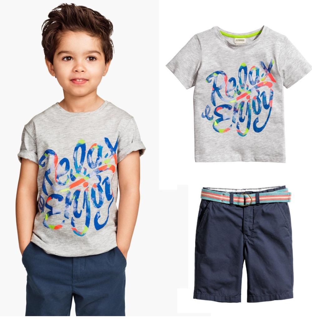 2016 summer shorts baby boy clothes 2pcs sleeve t