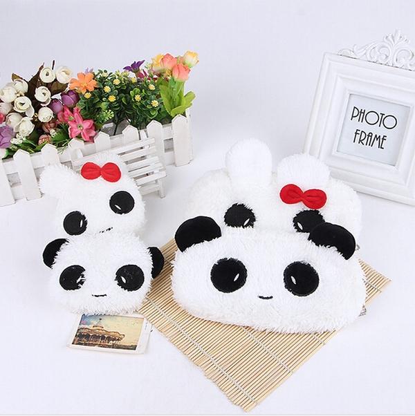 New Arrived Panda Rabbit Soft Plush Pencil Case Bunny Pen Pocket Cosmetic Makeup Zipper Bag Pouch Gift 1pcs/lot(China (Mainland))