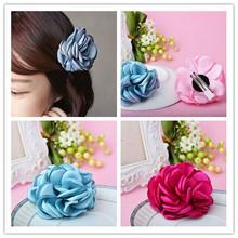 2pcs Classic Korean Fashion Floral Hair Accessories Cloth Flower Hair Clip Hairpin Women SF434