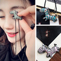 N379 Vintage Hollow Dragonfly Pendants Necklaces Women Antique Gold Plated Jewelry Accessories 2017 Collares Wholesales