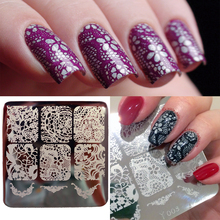 Elegant Lace Patterns Nail Art Stamp Stamping Template Image Plate Y003 6cm(China (Mainland))