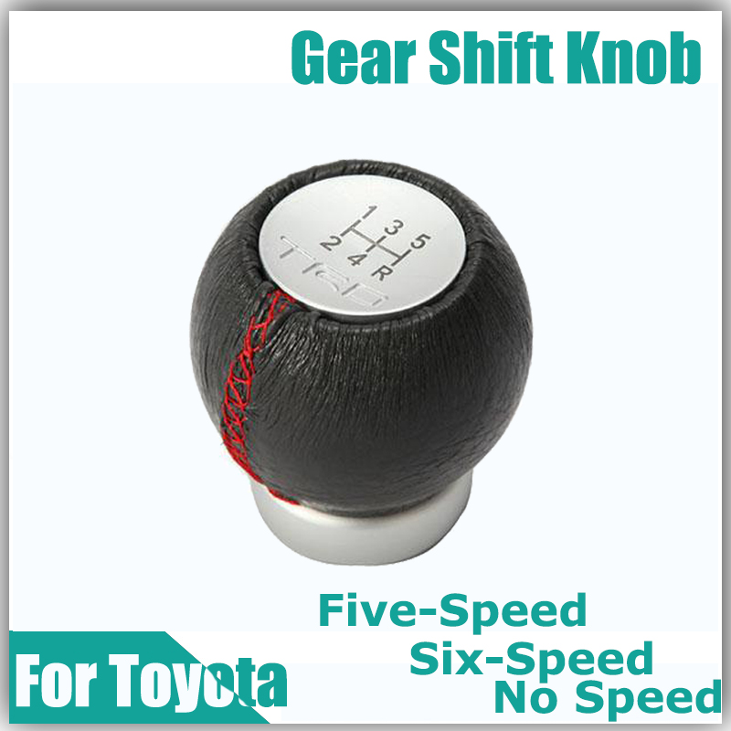 No Speed Five-Speed 5 / 6 Speed TRD Gear Shift Knob Shift Lever for Toyota Munual Transmission Car Vehicle Soft Leather Surface(China (Mainland))