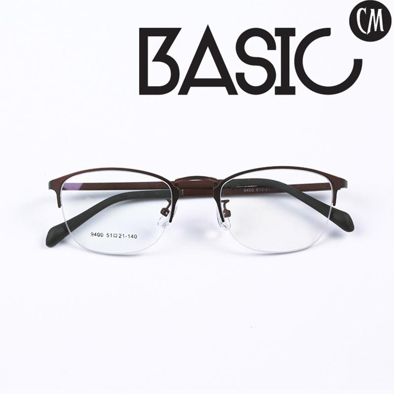 Half Rim Style Alloy Eye Glasses Optics Prescription Eyewear Frames(China (Mainland))