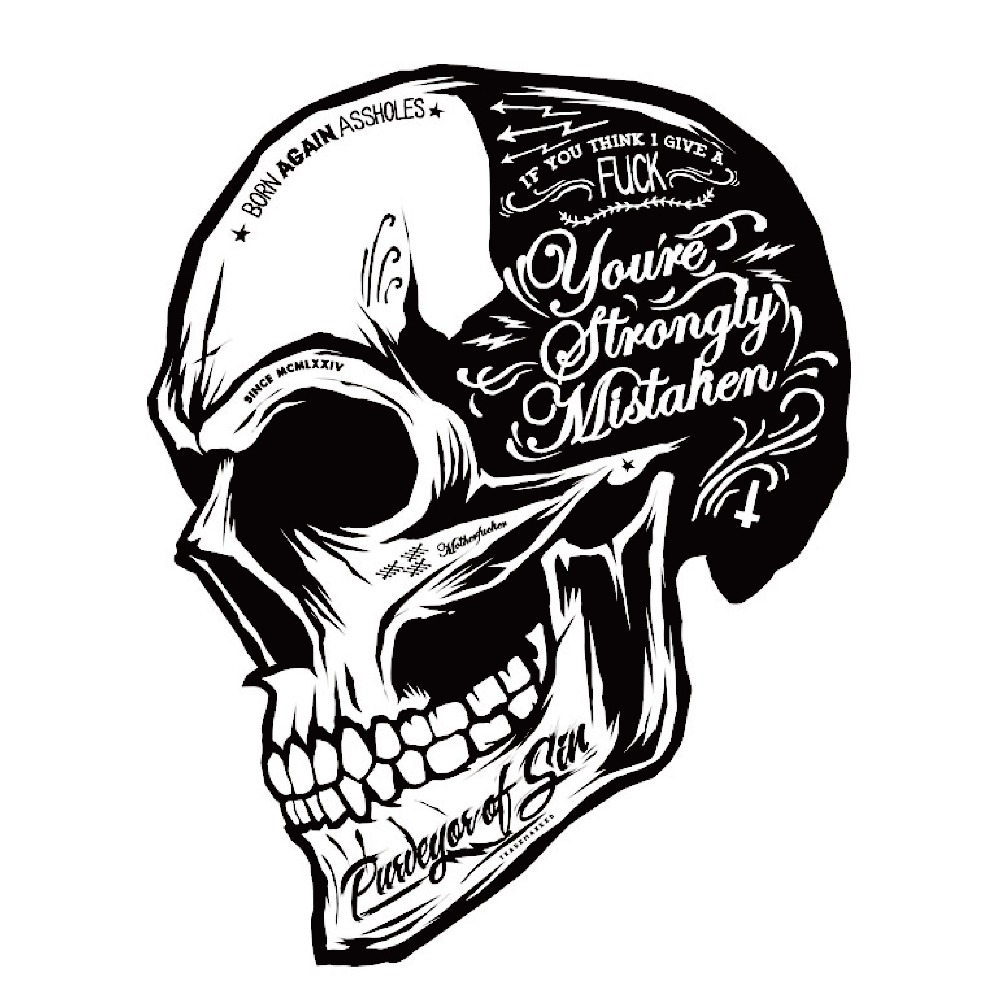 Black White Skull Cool Motorcycle Stickers Moto Decals helmet Sticker on Car styling on Fuel tank Window Decoration for BMW VW(China (Mainland))