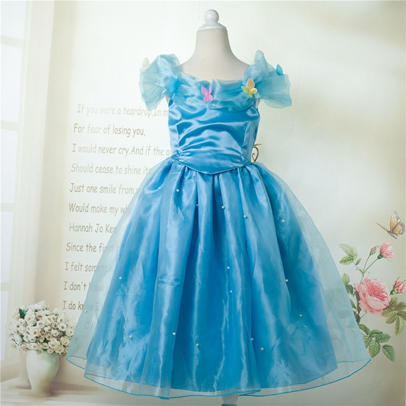 2015 New Fashion Brand Design Short Sleeved Satin Mesh Material Dresses Casual Cinderella Bowknot Dress LYQ-150805<br><br>Aliexpress