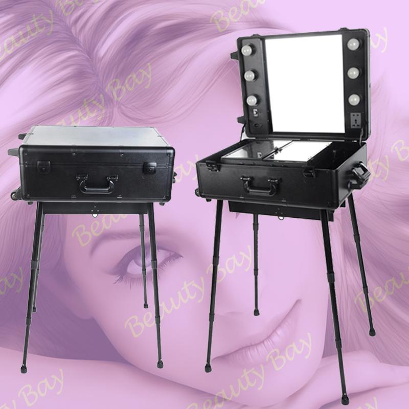 com : Buy trolley aluminium aluminum makeup cosmetic case with mirror ...