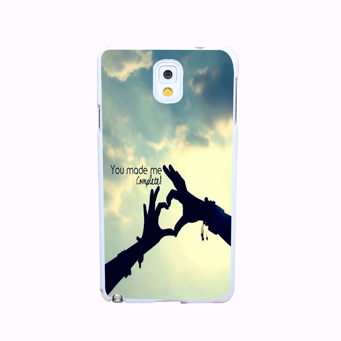You Made Me Complete Hard White Cover Case for Galaxy A3 A5 A7 A8 Note 2 3 4 5 Protect Phone Cases(China (Mainland))