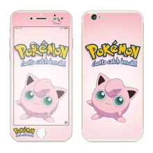 Tempered Glass Screen Film Front Back protector Pokemons Pikachus Cartoon Premium For iphone 6 6s Plus 5 5s Cover Package 100pcs