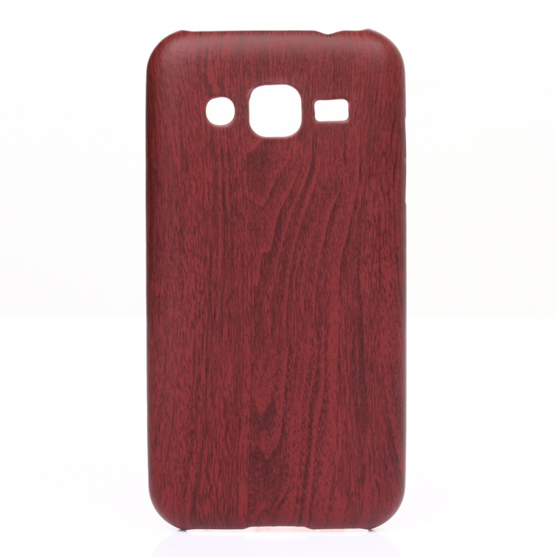 for Galaxy Core Prime SM-G360 TPU Bag Cover Wood Grain Leather Coated TPU Gel Case for Samsung Galaxy Core Prime SM-G360(China (Mainland))