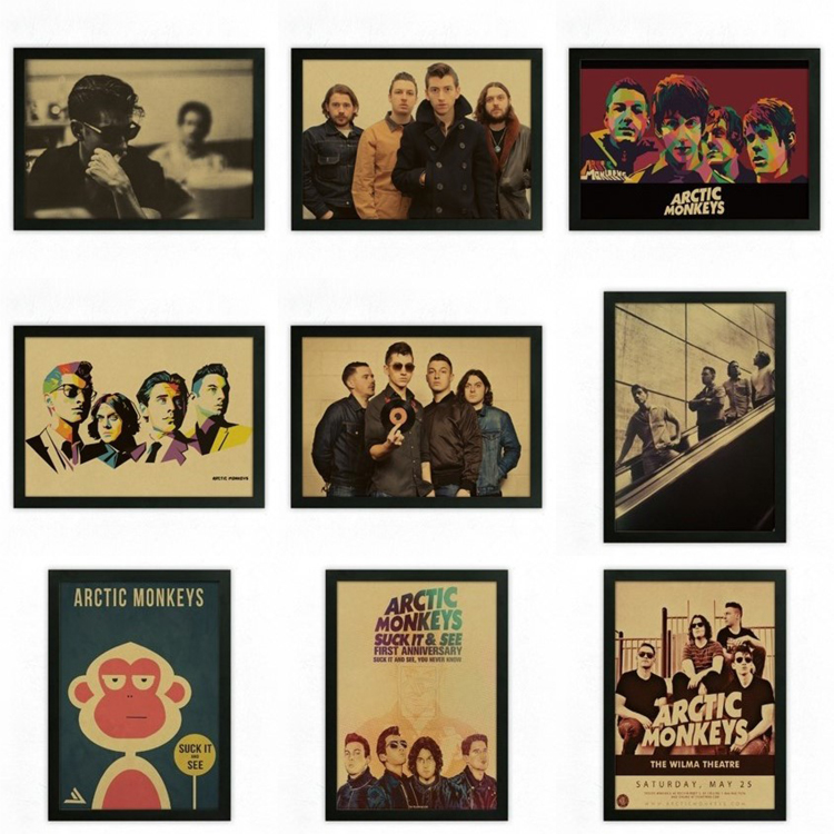 Arctic Monkeys rockers retro nostalgia kraft paper decorative poster posters(China (Mainland))