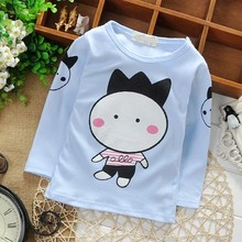 Autumn Winter Cotton Baby Boys Cartoon Long Sleeve O Neck Kids Pullovers Sweatshirts Girls Hoodies(China (Mainland))