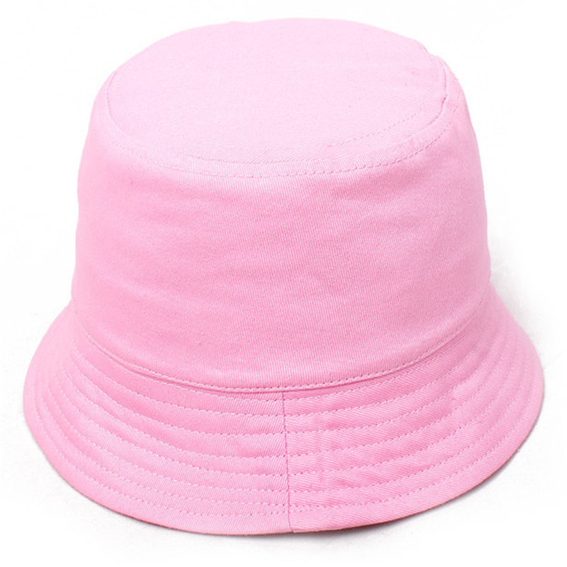 2016 New Fashion Baby Bucket Hats Children Fishing Cap Spring Summer Sun Hats Cute Colorful Solid For Boys and Girls(China (Mainland))