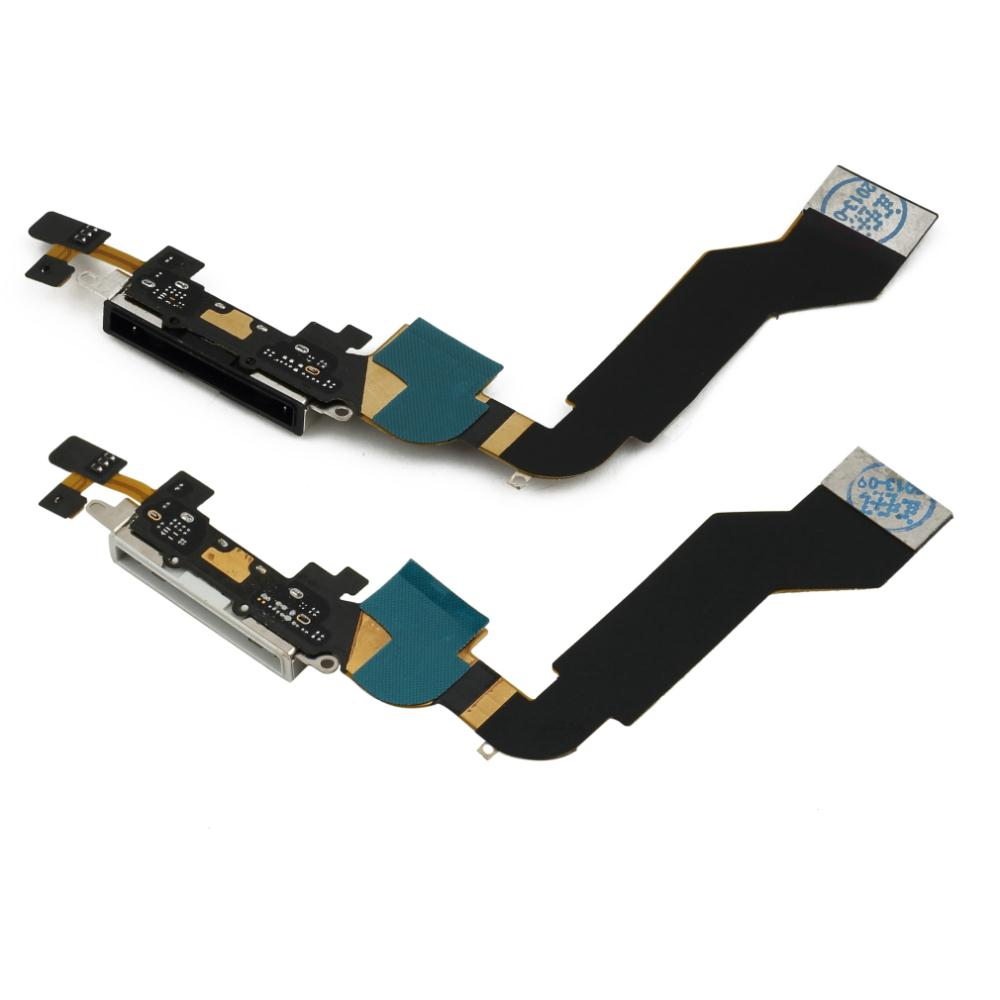1 pcs Replacement Charging Port Connector Flex Cable For iPhone 4S Black Brand New