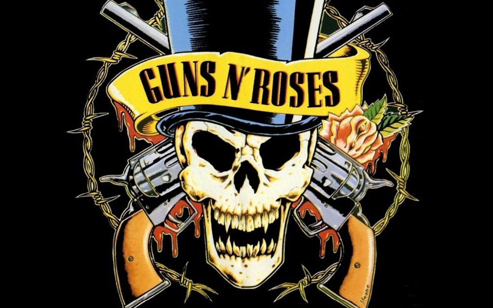 Guns.N.Roses Skull Logo Classical Custom Home Decoration Fashion FREE SHIPPING Poster Print Size(50x70)cm Wall Sticker(China (Mainland))
