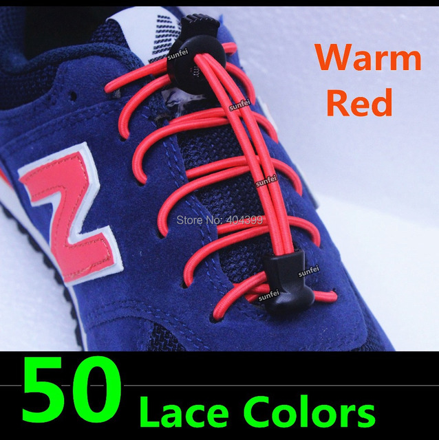 2015 No Tie Elastic Lace with Locks~Lock Laces(50 lace colors)DHL FREE SHIPPING~Bungee Elastic Locks Shoelace~Running Lace locks