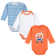 3PCS / LOT  2016 New Baby BB Boy Infant Girl Short Sleeve 100% Cotton Clothes Body Romper 0-12M Color Orange Pink Grey and Green(China (Mainland))