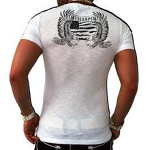 New Mens T Shirt 2015 Summer Listing Fashion Skull Printed Casual Man s Slim Fit Short