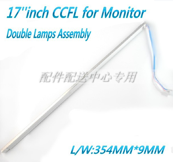 Universal 17 inch CCFL Lamps for LCD Monitor with Frame Backlight Assembly Double lamps 357mm*9mm Free Shipping(China (Mainland))